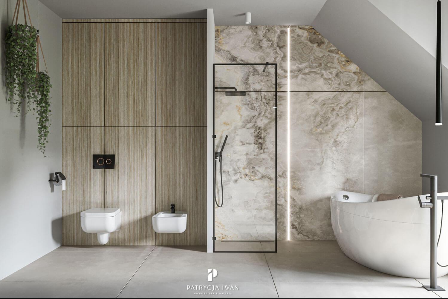 projekt łazienki z wanną Szczecin