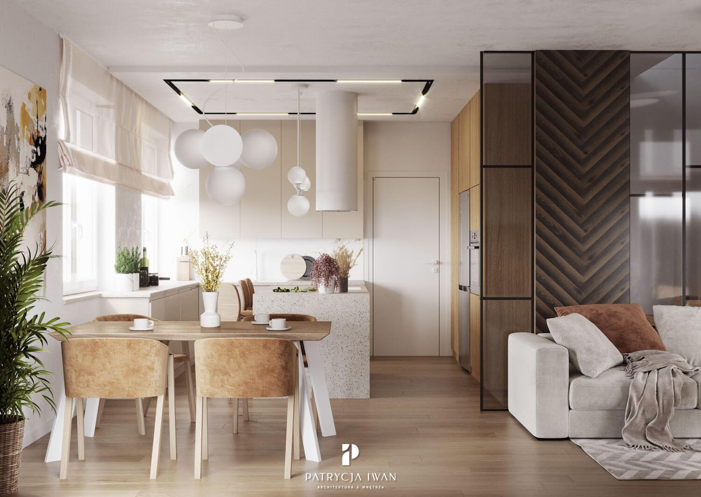 projekt białej kuchni