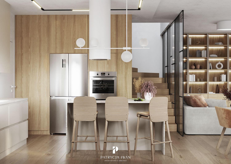 projekt kuchni w drewnie
