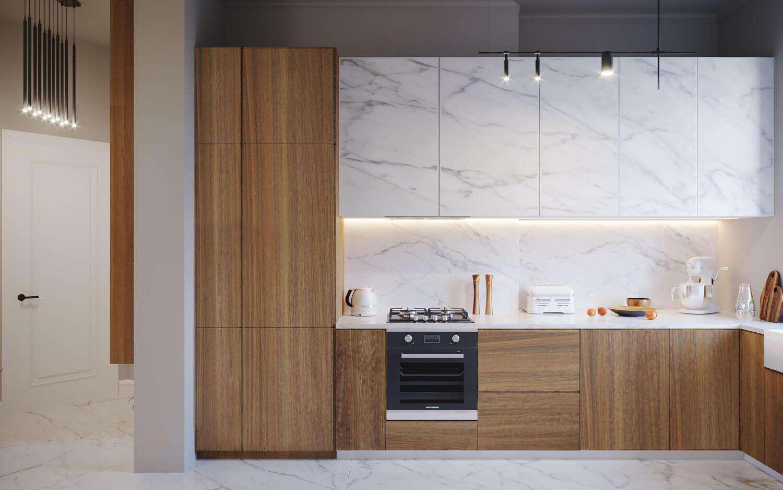 kuchnia z marmurem